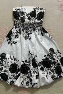 Black and white formal dress